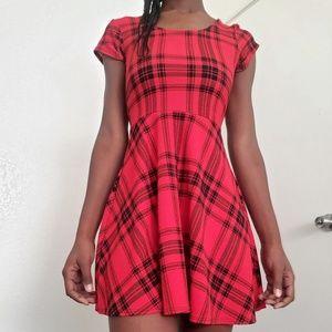 Red Plaid Dress